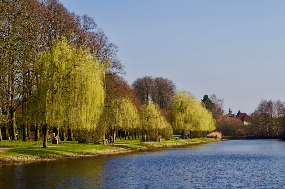 Der Stadtgraben innerhalb der Wallanlagen Gardelegen ist der schönste Parkteil