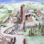 Romantische Ruine der Wasserburg in Kalbe (Milde)